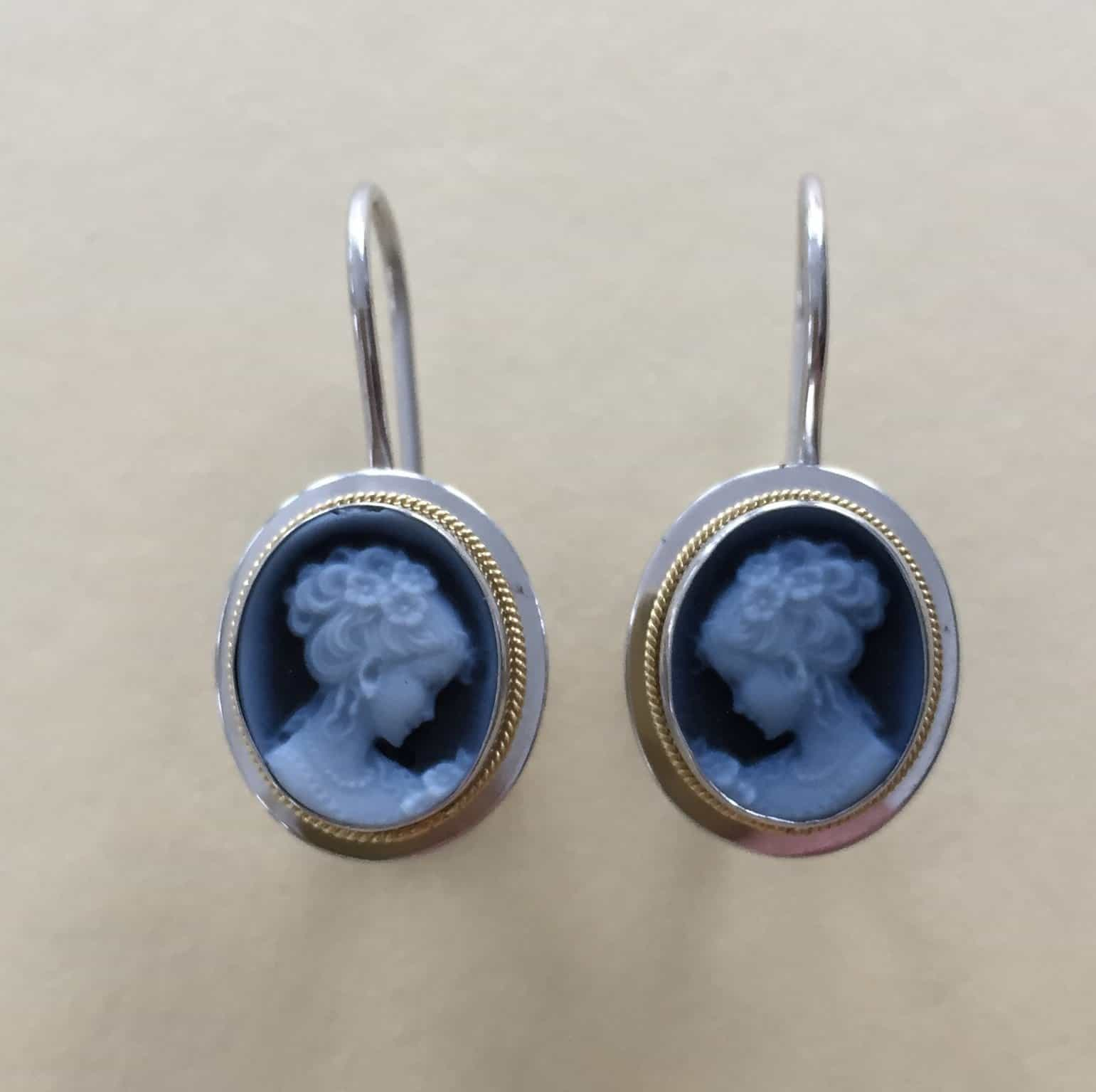 Small Blue Earrings: Small Blue Agate Earrings